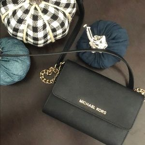 Michael Kora small black messenger bag